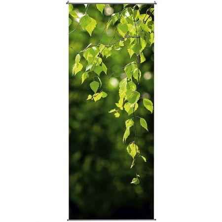 Διακοσμητική αφίσα από ύφασμα - Birch Leaves - 100x250cm