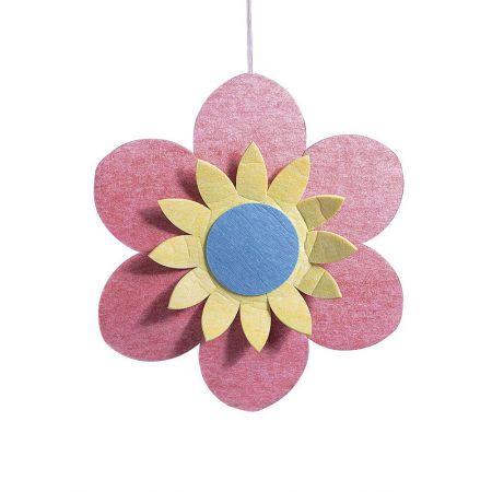 Διακοσμητικό κρεμαστό άνθος, ροζ 110cm