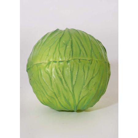 Διακοσμητικό λάχανο πράσινο απομίμηση 13cm