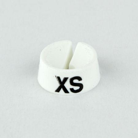 XS Σετ 25τχ Νουμεροδείκτες με Σήμανση XS για κρεμάστρες Λευκό - Μαύρο τύπωμα