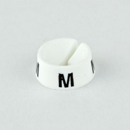 M Σετ 25τχ Νουμεροδείκτες με Σήμανση M για κρεμάστρες Λευκό - Μαύρο τύπωμα