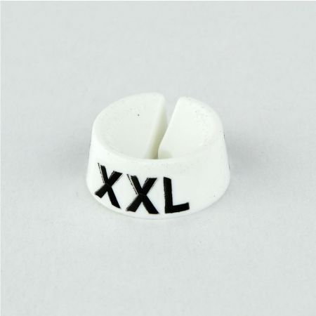 XXL Σετ 25τχ Νουμεροδείκτες με Σήμανση XXL για κρεμάστρες Λευκό - Μαύρο τύπωμα