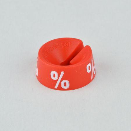 % Σετ 25τμχ Νουμεροδείκτες-Σήμανση εκπτώσεων Κόκκινο-Λευκό