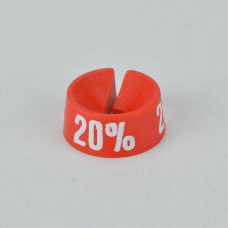20% Σετ 25τχ Νουμεροδείκτες - Σήμανση εκπτώσεων Κόκκινο - Λευκό τύπωμα