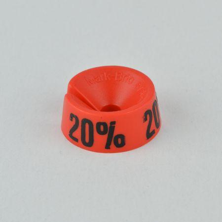 20% Σετ 25τχ Νουμεροδείκτες - Σήμανση εκπτώσεων Κόκκινο - Μαύρο τύπωμα