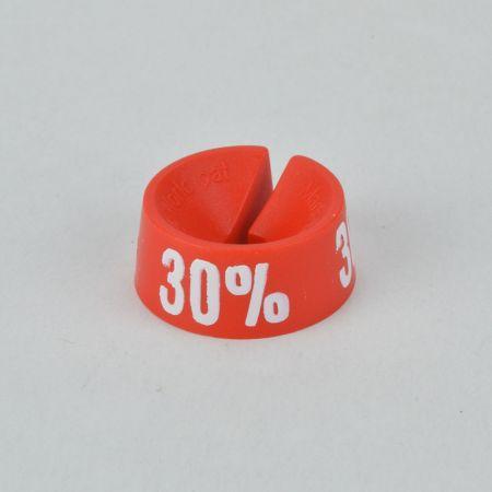 30% Σετ 25τχ Νουμεροδείκτες - Σήμανση εκπτώσεων Κόκκινο - Λευκό τύπωμα