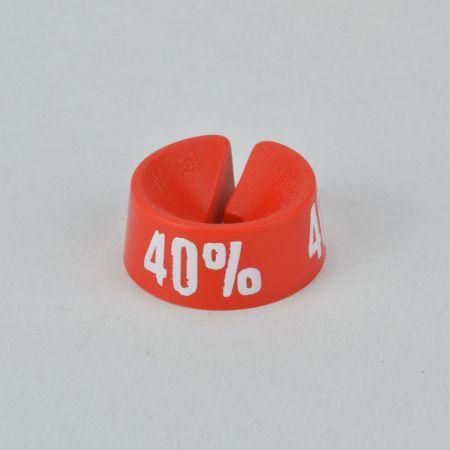40% Σετ 25τχ Νουμεροδείκτες - Σήμανση εκπτώσεων Κόκκινο - Λευκό τύπωμα