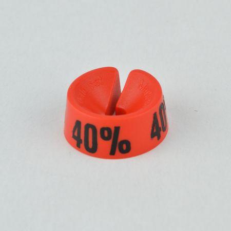 40% Σετ 25τχ Νουμεροδείκτες - Σήμανση εκπτώσεων Κόκκινο - Μαύρο τύπωμα