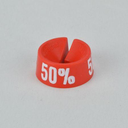 50% Σετ 25τχ Νουμεροδείκτες - Σήμανση εκπτώσεων Κόκκινο - Λευκό τύπωμα