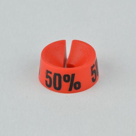 50% Σετ 25τχ Νουμεροδείκτες - Σήμανση εκπτώσεων Κόκκινο - Μαύρο τύπωμα
