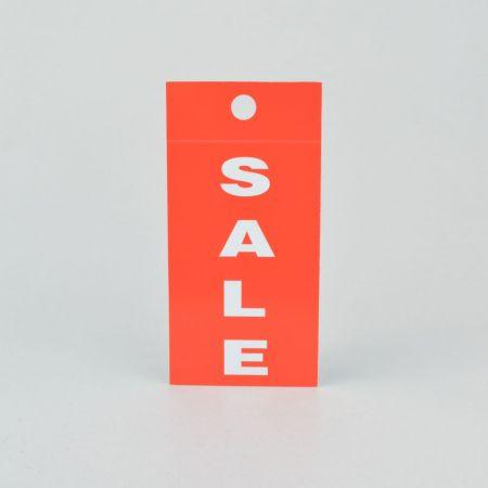 Σετ 25τμχ Ετικέτες SALE Κόκκινο-Λευκό 5x10cm