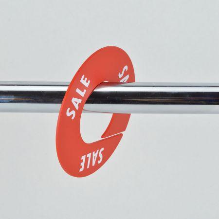 SALE Σετ 10τχ Διαχωριστικά Προσφορών 8,5cm Κόκκινο - Λευκά γράμματα