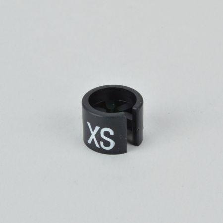 XS Σετ 100τχ Νουμεροδείκτες mini με Σήμανση XS για κρεμάστρες Μαύρο - Λευκό τύπωμα