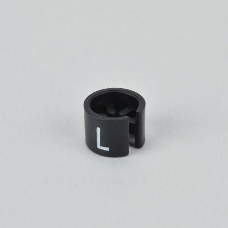 L Σετ 100τχ Νουμεροδείκτες mini με Σήμανση L για κρεμάστρες Μαύρο - Λευκό τύπωμα