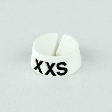 XXS Σετ 25τχ Νουμεροδείκτες με Σήμανση XXS για κρεμάστρες Λευκό - Μαύρο τύπωμα