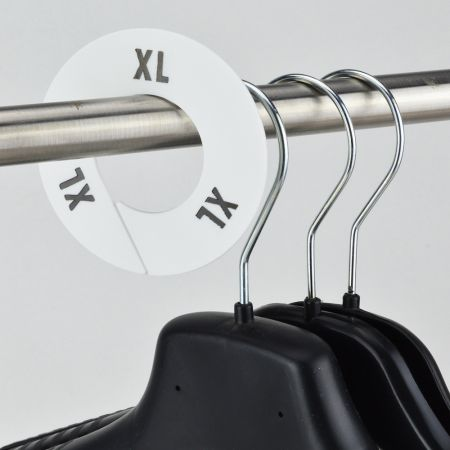 XL Σετ 10τχ Διαχωριστικά Μεγεθών Στρογγυλά Λευκό- Μαύρο