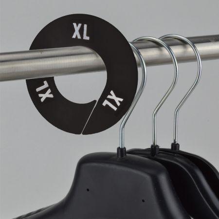XL Σετ 10τχ Διαχωριστικά Μεγεθών Στρογγυλά Μαύρο - Λευκό 9cm