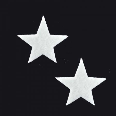 Σετ 2τχ Διακοσμητικά Χριστουγεννιάτικα αστέρια από βάτα 17cm