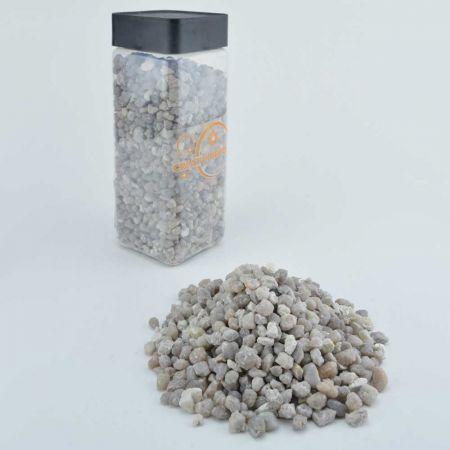 Συσκευασία 645ml - Διακοσμητικό χαλίκι Φυσικό Γκρι 4-8mm