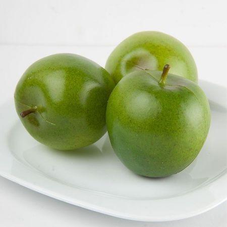 Σετ 3τχ Διακοσμητικά μήλα (Μεγάλα) Πράσινα 8cm