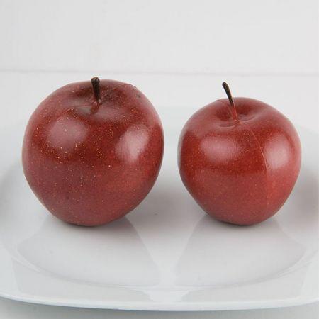 Σετ 3τμχ Διακοσμητικά μήλα μικρά - απομίμηση Κόκκινα 7cm