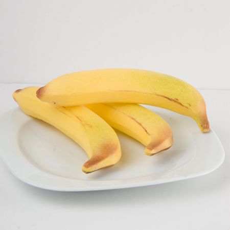 Σετ 3τμχ Διακοσμητικές μπανάνες μεγάλες - απομίμηση 19x4cm
