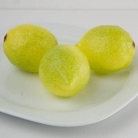 Σετ 3τχ Διακοσμητικά λεμόνια - απομίμηση 8x6cm