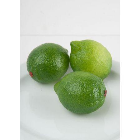 Σετ 3τχ Διακοσμητικά μοσχολέμονα - Lime απομίμηση 8x6cm