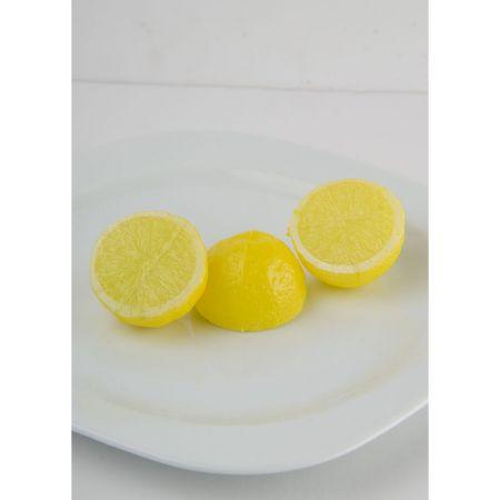 Σετ 3τχ Διακοσμητικά λεμόνια κομμένα μισά - απομίμηση 4x4cm