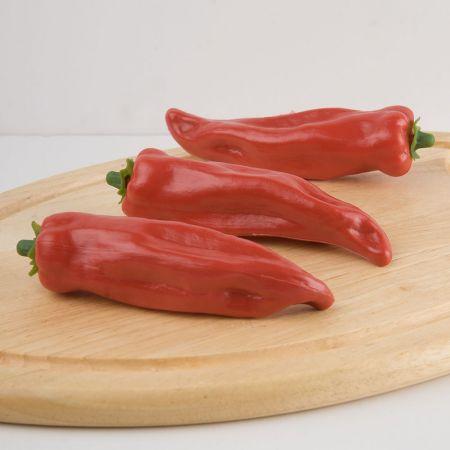 Σετ 3τχ Διακοσμητικές πιπεριές Φλωρίνης - απομίμηση Κόκκινες 16x9cm