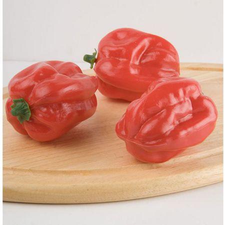 Σετ 3τχ Κόκκινες πιπεριές απομίμηση 11x9cm