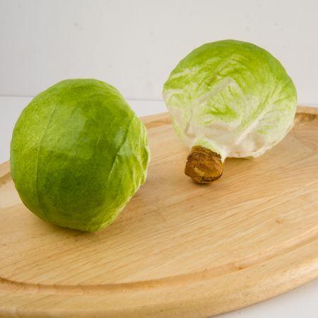 Σετ 2τχ Διακοσμητικό λάχανο - απομίμηση Πράσινο 12cm