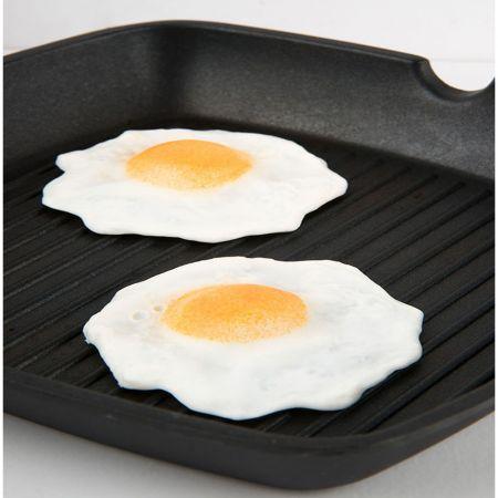 Σετ 2τμχ Διακοσμητικά τηγανιτά αυγά - απομίμηση 10cm