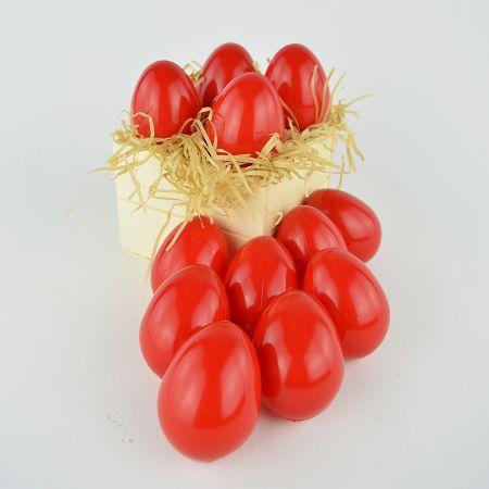 Σετ 12τχ Πασχαλινά αυγά Κόκκινα 6,5cm
