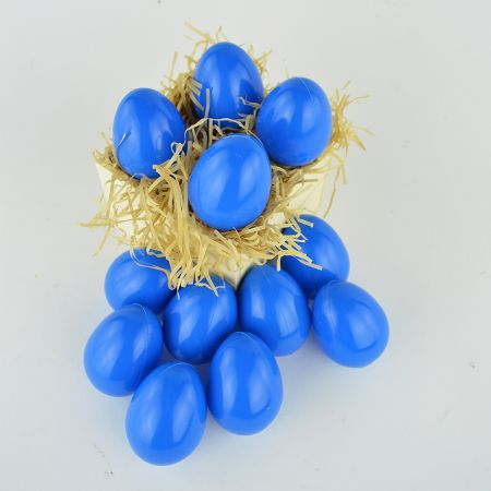Σετ 12τχ Πασχαλινά αυγά Μπλε 6,5cm