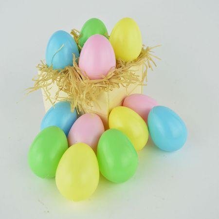 Σετ 12τχ αυγά Πολύχρωμα 6,5cm