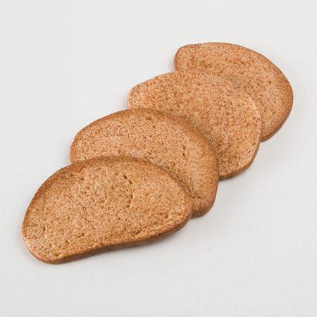 Σετ 4τμχ Διακοσμητικές φέτες μαύρο ψωμί - απομίμηση 14x9cm