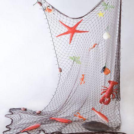 Διακοσμητικό δίχτυ ψαρέματος με ψάρια 150x200cm