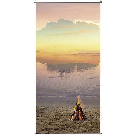 Διακοσμητική αφίσα με παραλία και φωτιά 100x200 cm