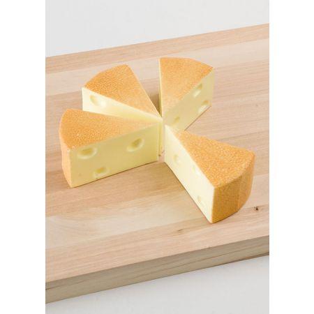 Σετ 4τχ κομμάτια τυριών Emmental απομίμηση 9x5,5x5cm