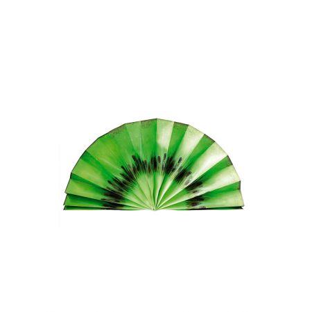 Διακοσμητική χάρτινη βεντάλια - φέτα ακτινίδιο 80cm