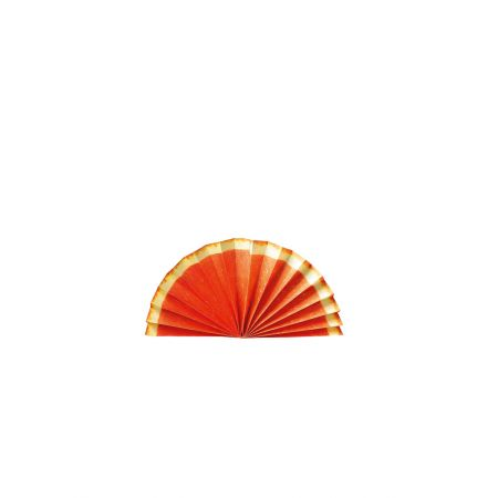 Διακοσμητική χάρτινη βεντάλια - φέτα πορτοκάλι 40cm