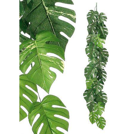 Διακοσμητική καλοκαιρινή γιρλάντα με φύλλα Μονστέρα 180cm