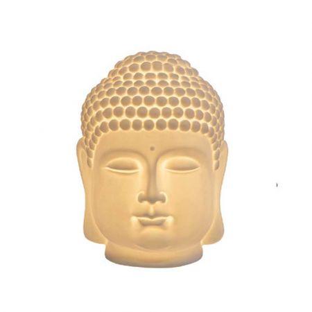 Διακοσμητικό κεφάλι Βούδα LED μπαταρίας 11x10,3x13cm