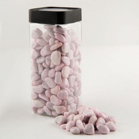 Συσκευασία 550ml Διακοσμητικές χρωματιστές πέτρες - φυσικό υλικό.