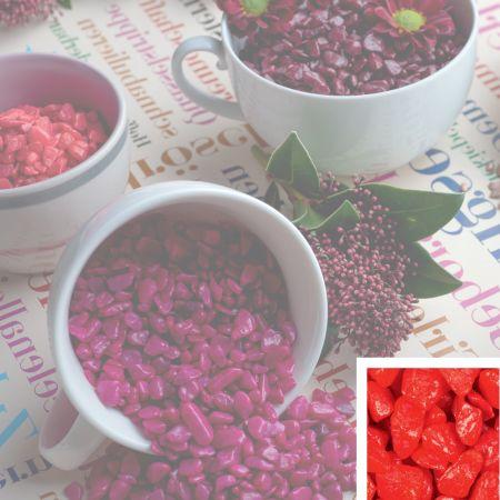 Συσκευασία 550ml Διακοσμητικό χαλίκι χρωματιστό Κόκκινο 5-8mm
