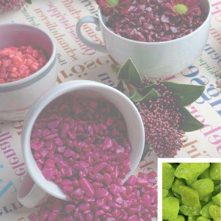 Συσκευασία 550ml Διακοσμητικό χαλίκι χρωματιστό Πράσινο 5-8mm