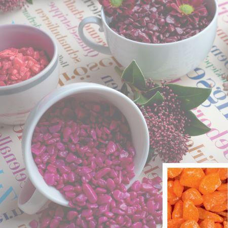 Συσκευασία 550ml Διακοσμητικό χαλίκι χρωματιστό Πορτοκαλί 5-8mm