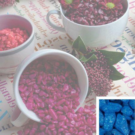 Συσκευασία 550ml Διακοσμητικό χαλίκι χρωματιστό Μπλε 5-8mm
