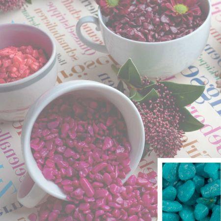Συσκευασία 550ml Διακοσμητικό χαλίκι χρωματιστό Τουρκουάζ 5-8mm